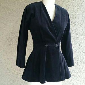SISLEY Black Velvet Blazer Size S